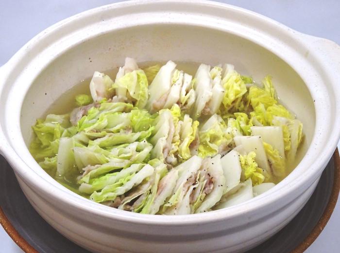 豚バラ肉と白菜の重ね鍋