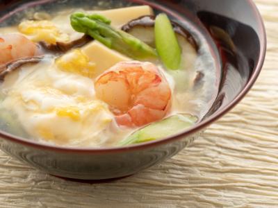 春野菜のあんかけ卵豆腐