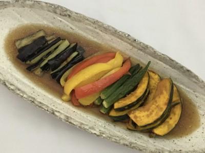 野菜の揚げびたし